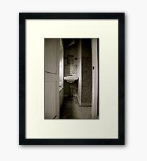Cramped Sink Framed Print