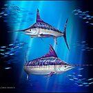 Stripes - Striped Marlin by David Pearce