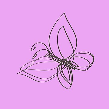 butterfly on a pink by Mila-Che