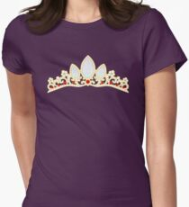 Lost Princess Crown Womens Fitted T-Shirt