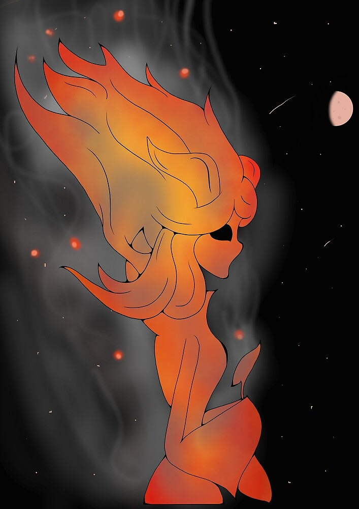 Fire girl coloured by ChloDeSto