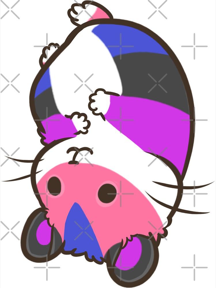 Pride Hamster - genderfluid by pawlove