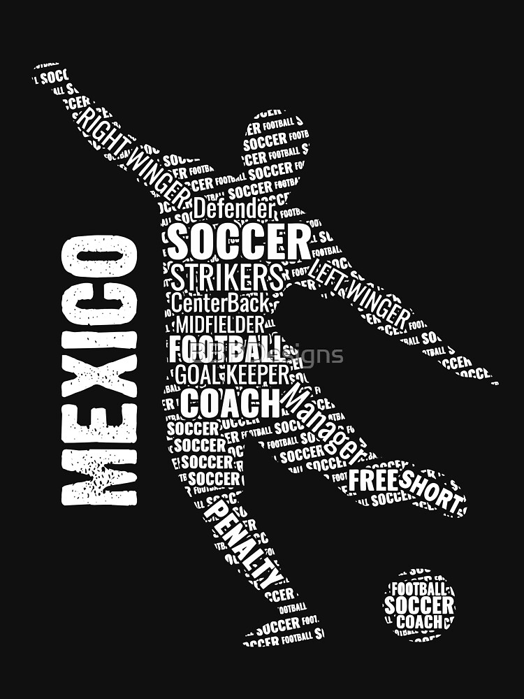 Football Typography Mexico Soccer Fan Gift by BBPDesigns