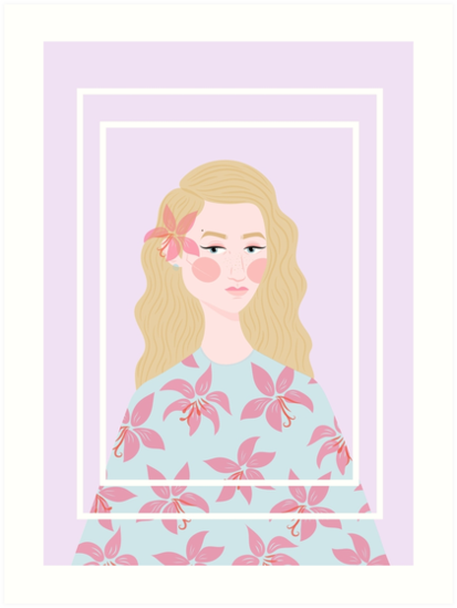 Women in Florals 1#: Pink Lady Lily by rowleyandelm