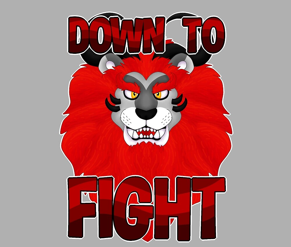 Down to Fight Lion by CreativeBeasts