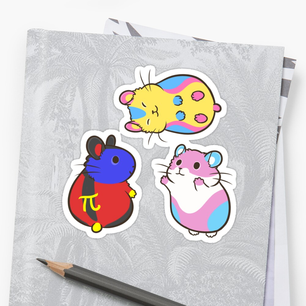 Pride Hamster sticker set 2 by pawlove