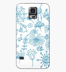 blue doodle Case/Skin for Samsung Galaxy