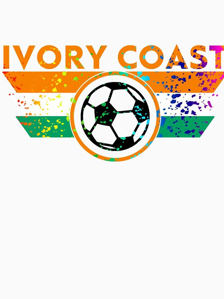 Ivory Coast Jersey Shirt Paint Splatter by 7United