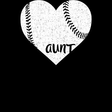 Baseball Aunt White Heart Shirt by Clort