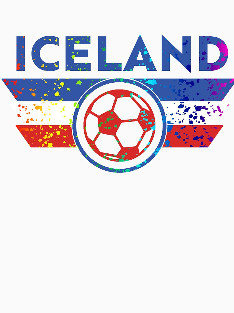 Iceland Jersey Shirt Soccer Paint Splatter by 7United
