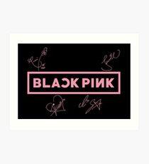 BLACKPINK - SIGNED LOGO Art Print
