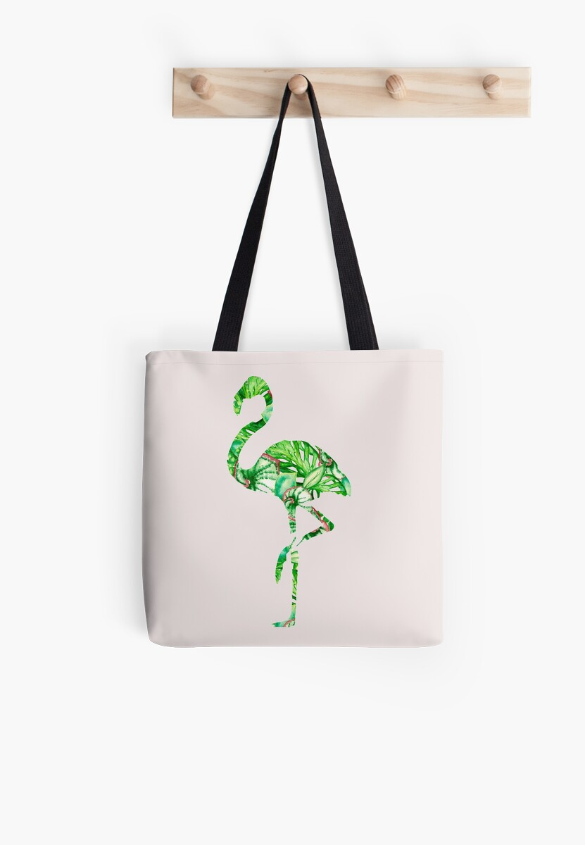 Tropical silhouettes of animals - flamingo by ArtOlB