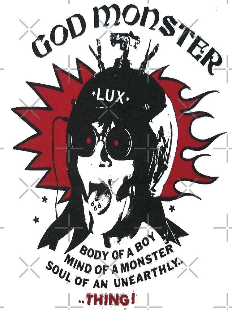 LUX INTERIOR T SHIRT - GOD MONSTER!  by Anatoly Nazarov