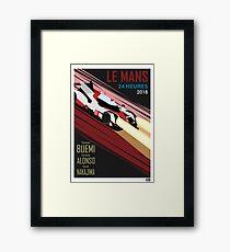 Retro inspired Le Mans poster Framed Print