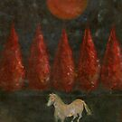 Pony and Trees and Moon by Wojtek Kowalski
