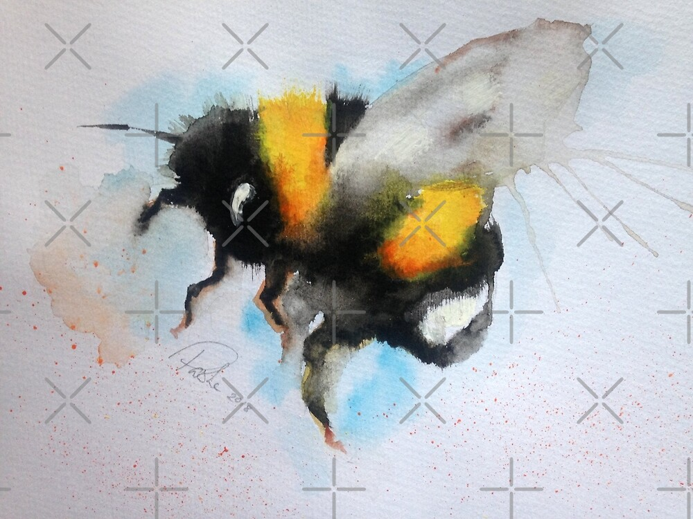 Bumble Bee Water Colour by Pasha du Valentine for Goddamn Media by goddamnmedia