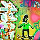 skate board art by Andrew Hennig