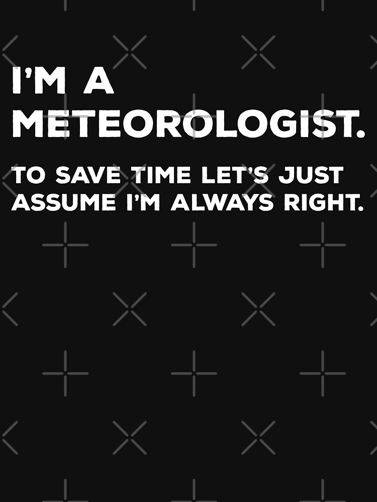 I'm A Meteorologist, To Save Time Let's Just Assume I'm Always Right by teesaurus