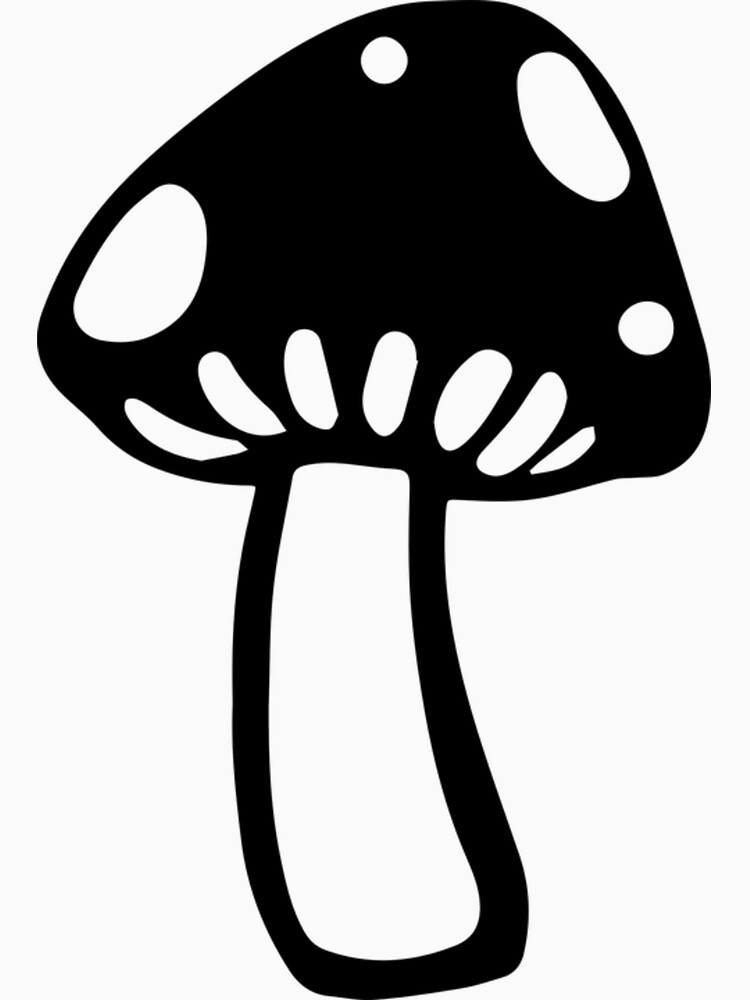 Black mushroom mushrooms forest by Scirocko