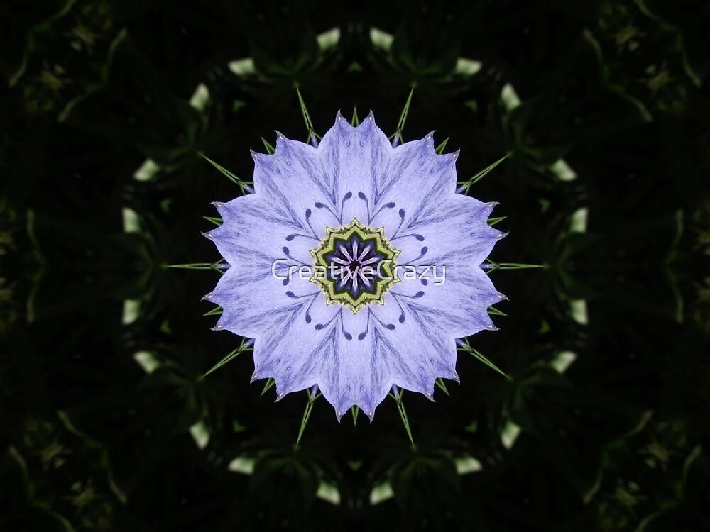Kaleidoscope Flower Background Art by CreativeCrazy