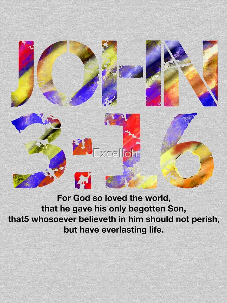 John 316 (Black color scripture) by Excelloh