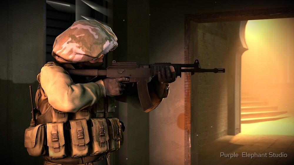 Counter Strike Global Offensive Operator by Purple  Elephant