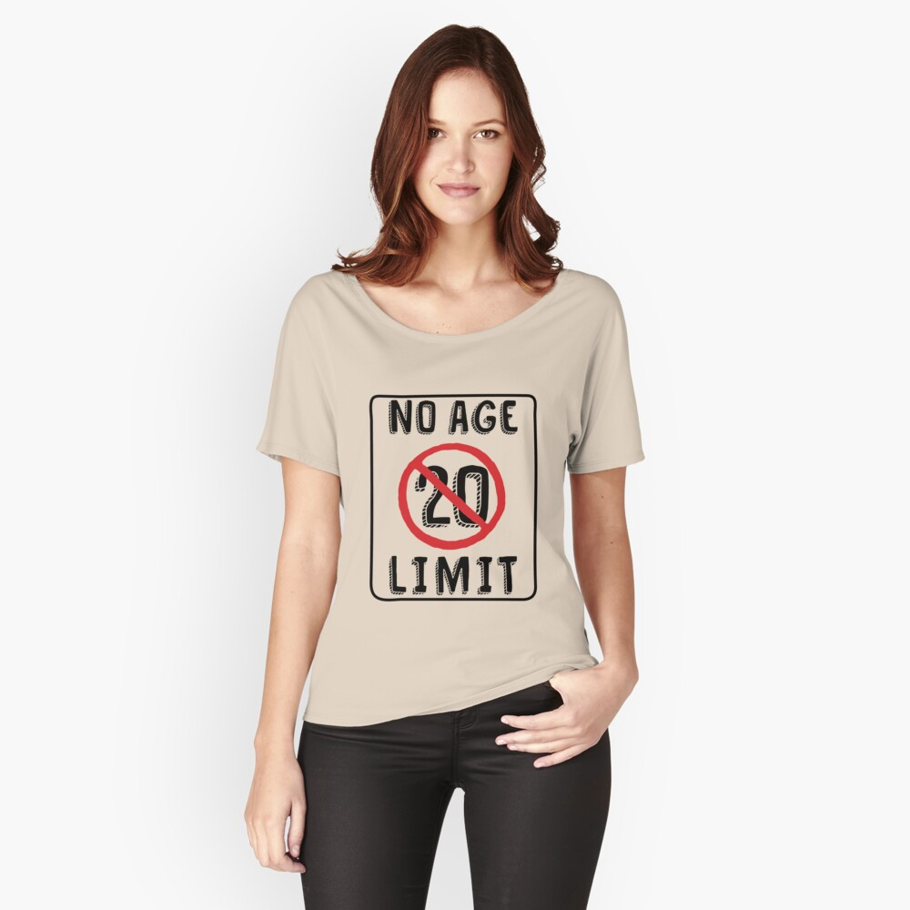 89c7b451 No Age Limit 20th Birthday Gifts Funny B-day for 20 Year Old by MemWear