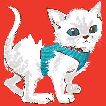 Tummy Top Survivor - Kitten Print & Pattern by ElliMaanpaa