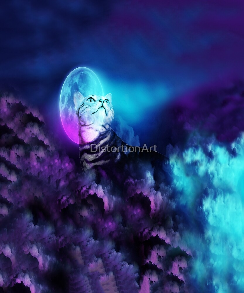 Pandora Silver Bengal Kitty Cat of the Moonlit Night by DistortionArt