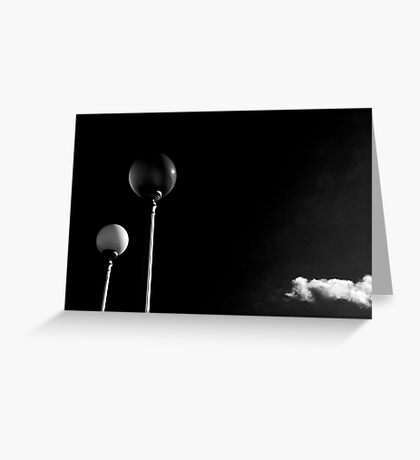 Street lamps and lonely cloud Greeting Card