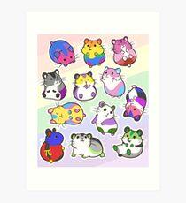 Pride Hamsters Art Print