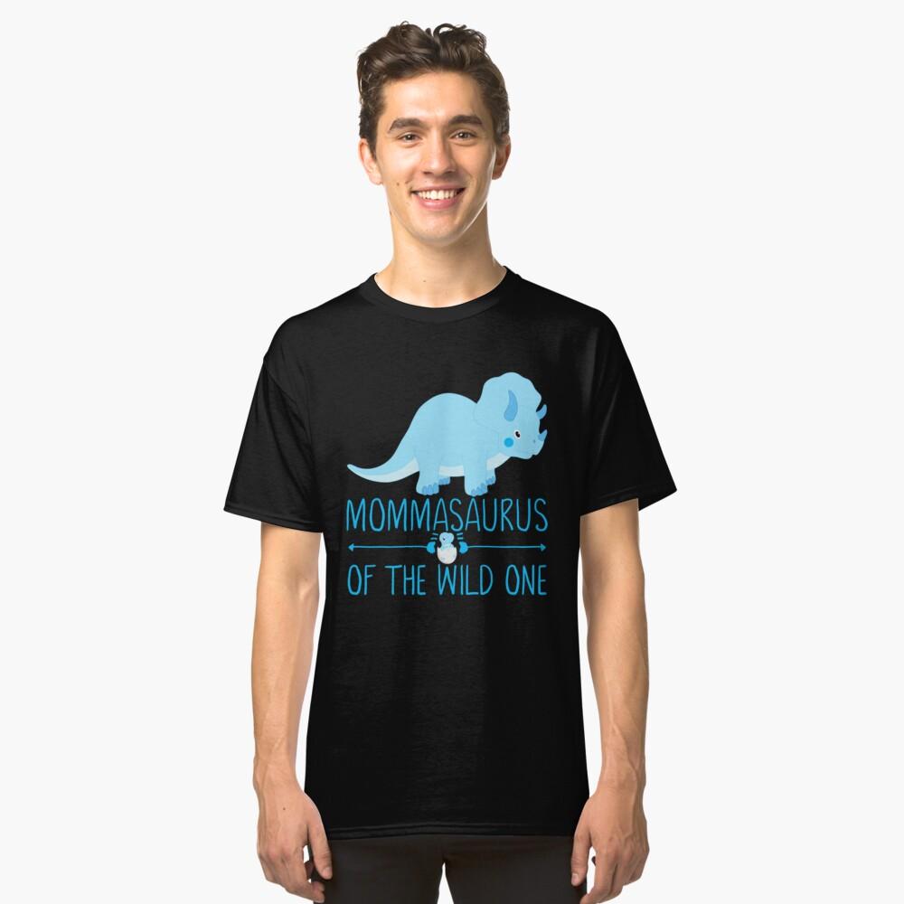 Momma Saurus Funny Dinosaur Classic T-Shirt Front