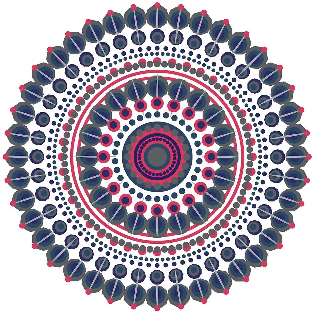 Navy Mandala Design by Phantasmag0ry