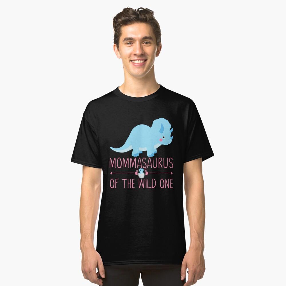 MommaSaurus Dinosaur Matching Mom Classic T-Shirt Front