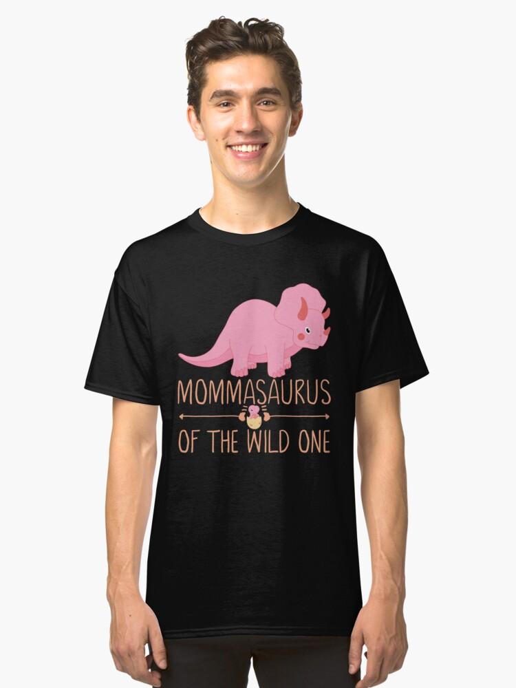 Momma Saurus Funny Dino Mom Classic T-Shirt Front