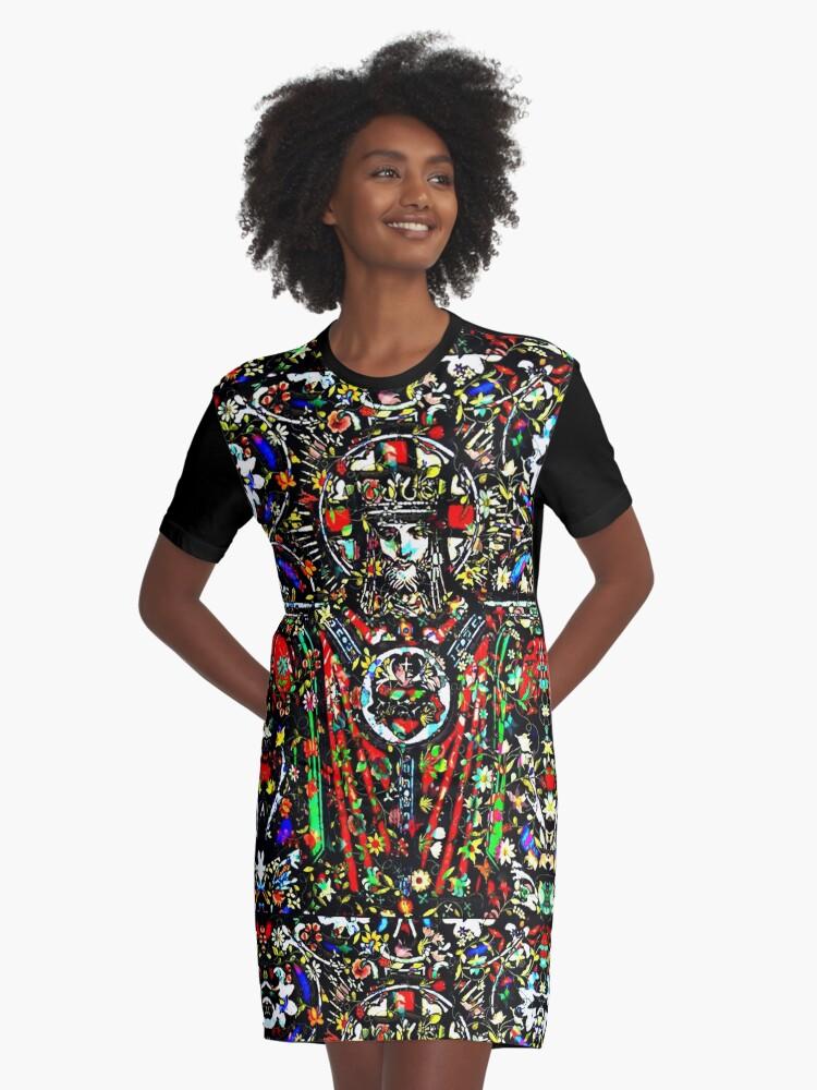 WEAR IS ART #13 Graphic T-Shirt Dress Front