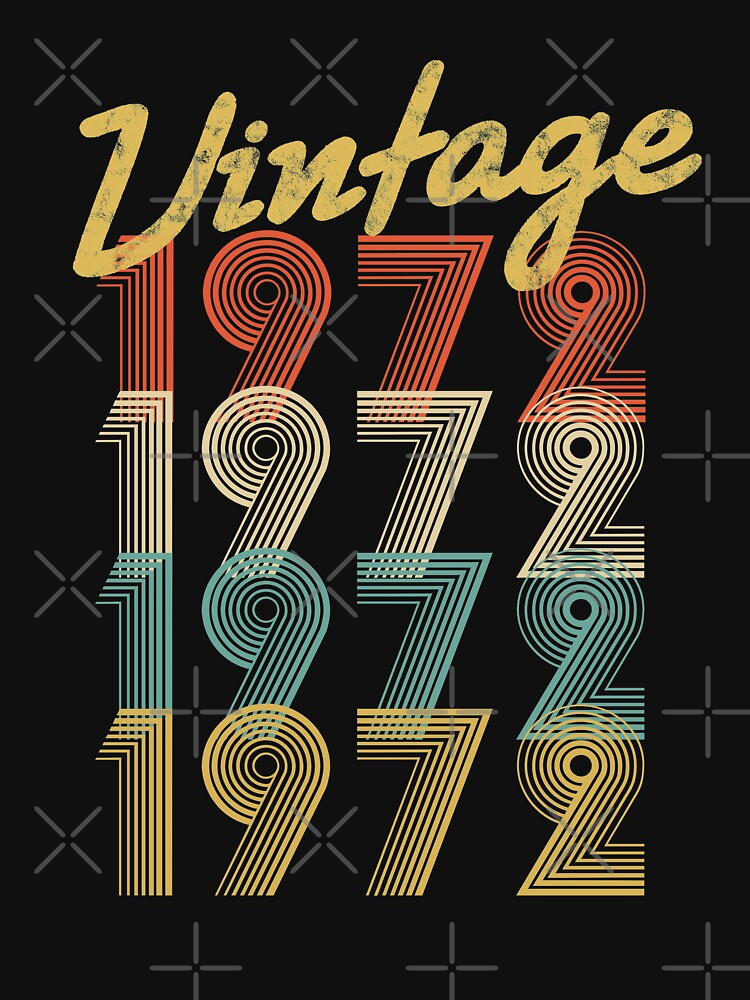 vintage retro since 1972 birthday gift by 8fiveone4