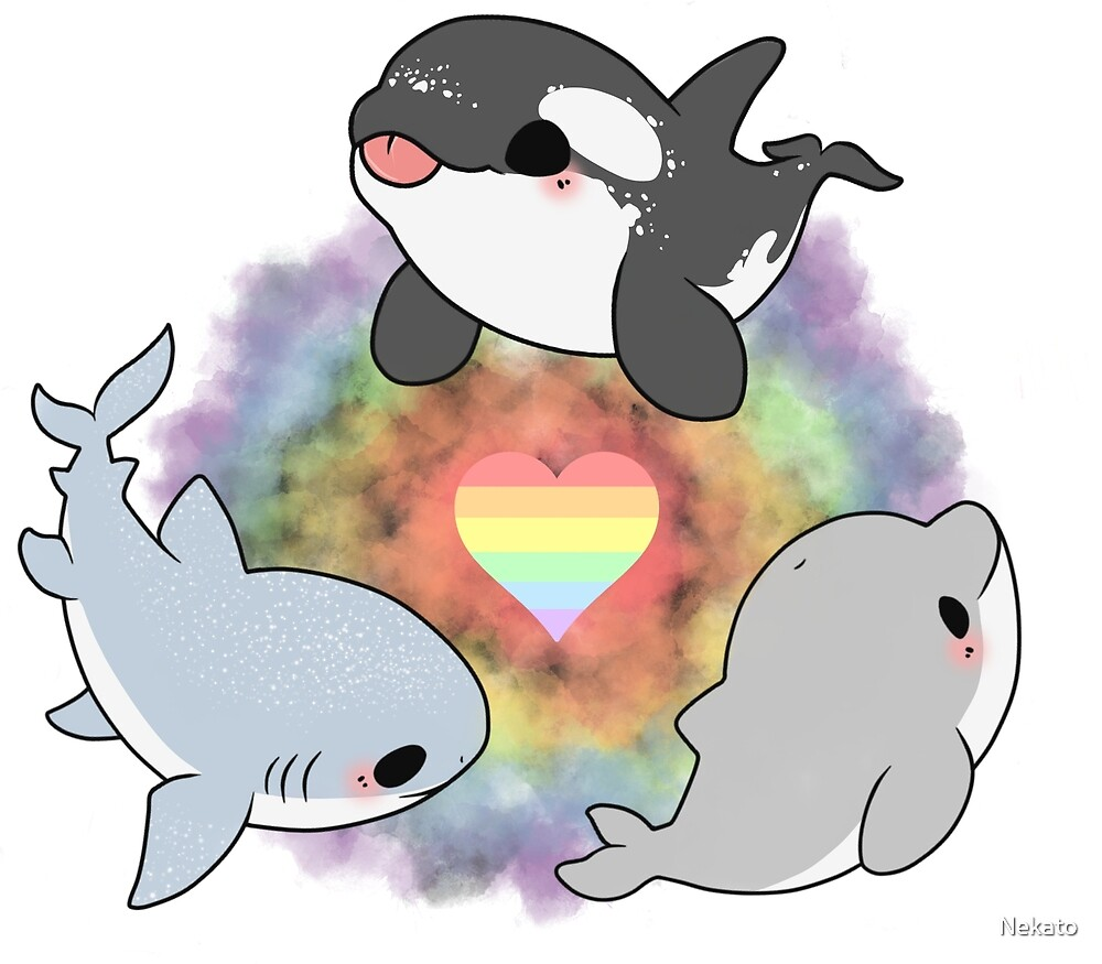 Gay pride animals by Nekato