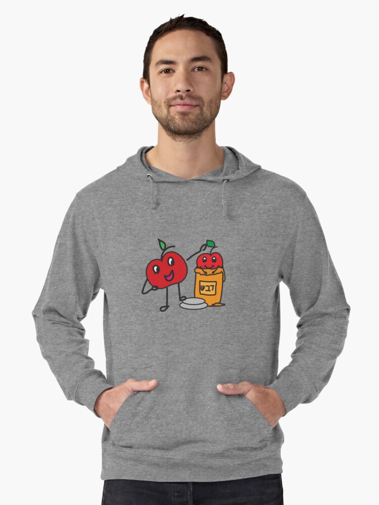 Apple and honey cute doodle Lightweight Hoodie Front
