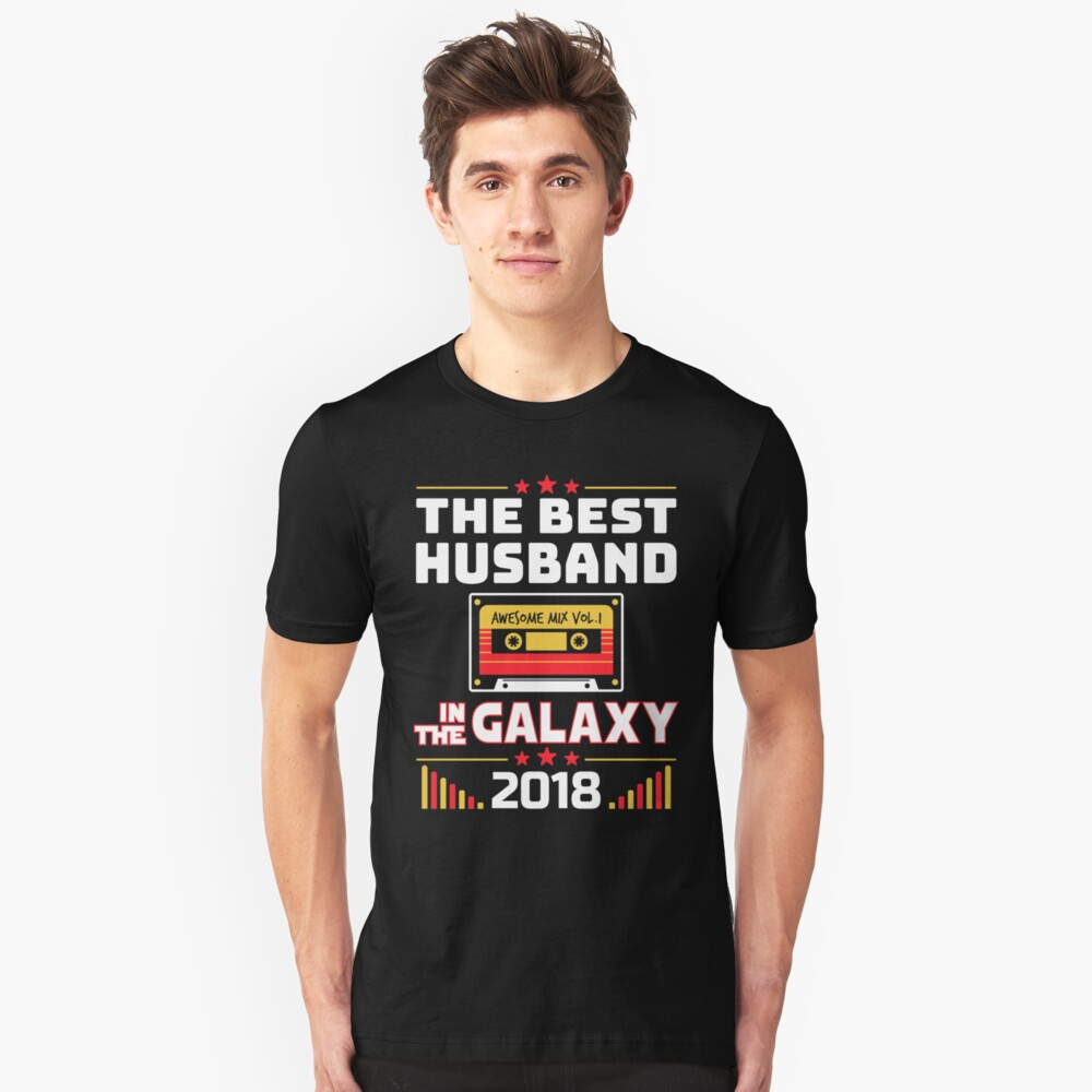 Best Husband In The Galaxy 2018 Fathers Day Gift Unisex T-Shirt Front