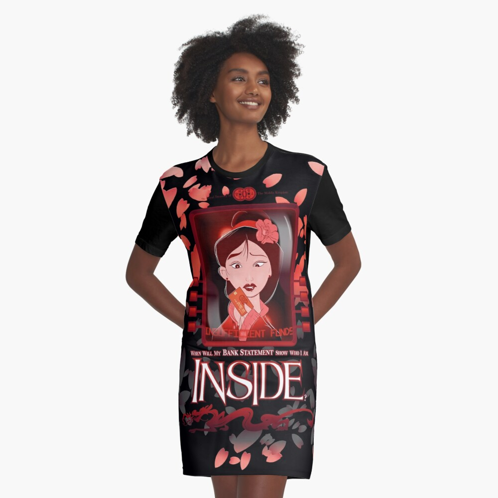Who I Am Inside Graphic T-Shirt Dress Front