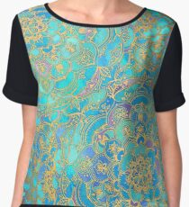 Blusa Sapphire & Jade Stained Glass Mandalas