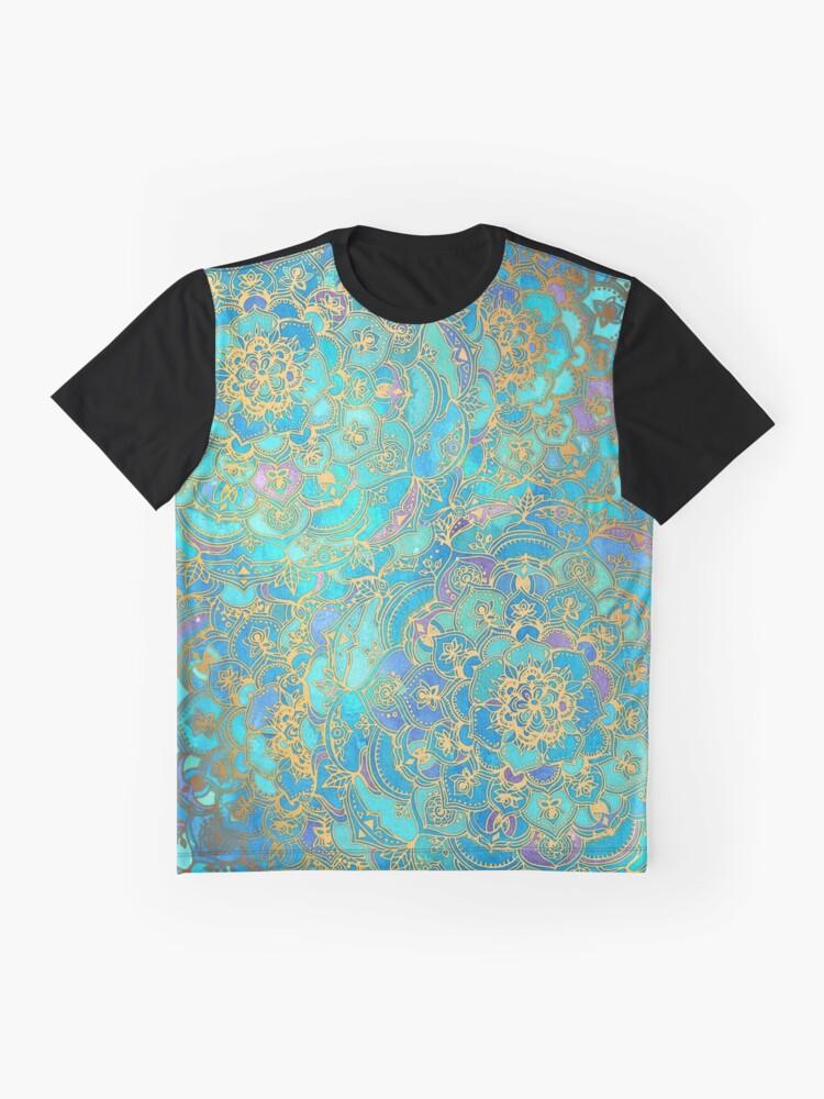 Alternative Ansicht von Saphir und Jade Glasmalerei Mandalas Grafik T-Shirt