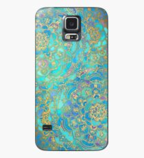 Sapphire & Jade Stained Glass Mandalas Case/Skin for Samsung Galaxy