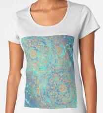 Sapphire & Jade Stained Glass Mandalas Premium Scoop T-Shirt