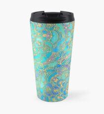 Sapphire & Jade Stained Glass Mandalas Travel Mug