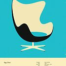 EGG CHAIR (1958) by JazzberryBlue