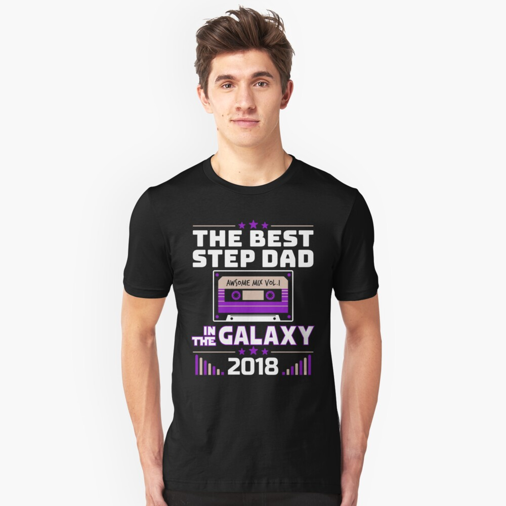 Best Step Dad In Galaxy Father Day Gift Unisex T-Shirt Front