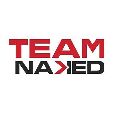 Team NAKED Logo Teeshirts by Liftoff2018