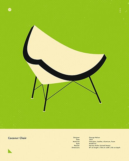 COCONUT CHAIR (1955) by JazzberryBlue